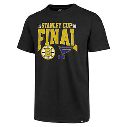 St. Louis Blues 47 Brand Stanley Cup Final 2019 Basic Dueling Tee - Black | STL Authentics