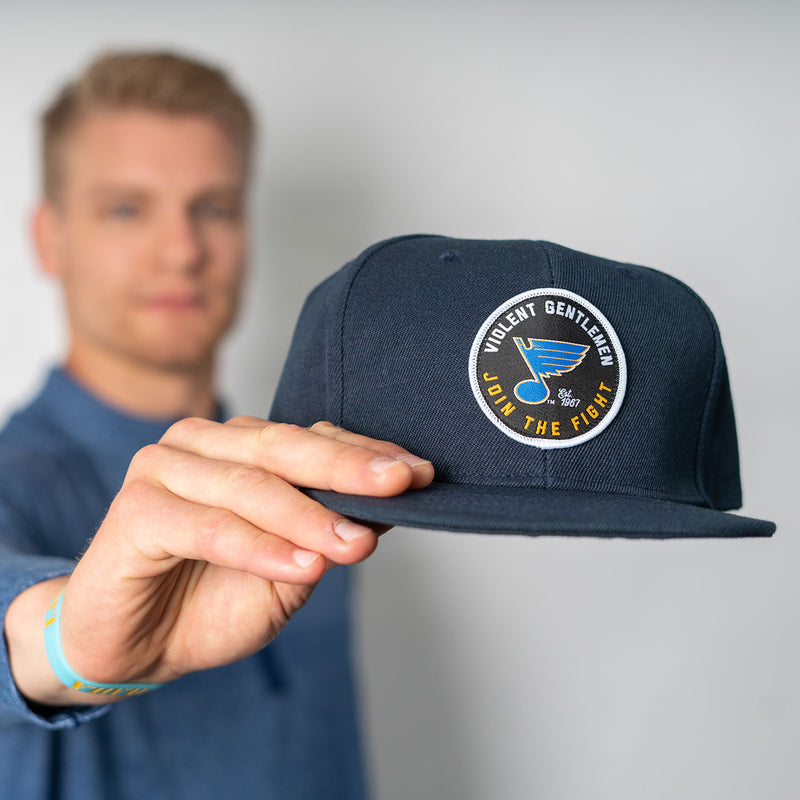 St. Louis Blues Violent Gentlemen Join The Fight Snapback Cap - Navy