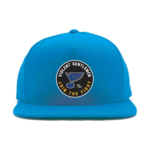 St. Louis Blues Violent Gentlemen Join The Fight Snapback Cap - Royal