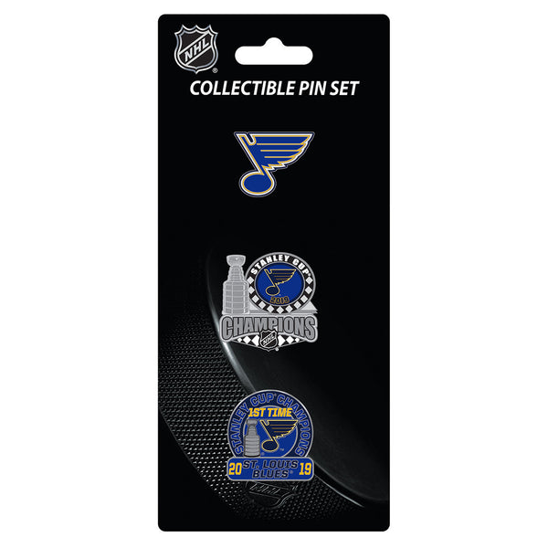 St. Louis Blues Aminco 2019 Stanley Cup Final Champions Collectible Pin Set | STL Authentics