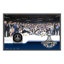 St. Louis Blues Inglasco 2019 Stanley Cup Final Champions Collectible Plaque and Game Puck | STL Authentics