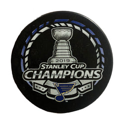 St. Louis Blues Inglasco 2019 Stanley Cup Final Champions Souvenir Puck - STL Authentics