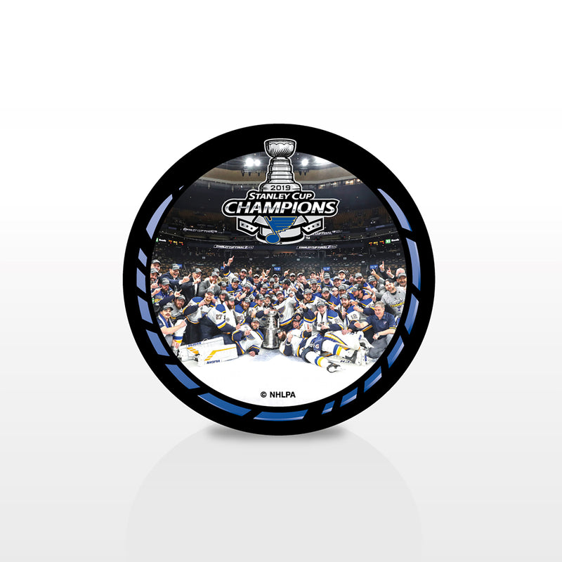 St. Louis Blues Inglasco 2019 Stanley Cup Final Champions Celebration Souvenir Puck