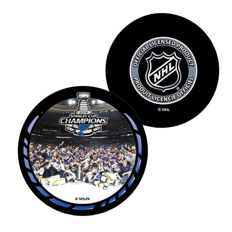 St. Louis Blues Inglasco 2019 Stanley Cup Final Champions Celebration Souvenir Puck | STL Authentics