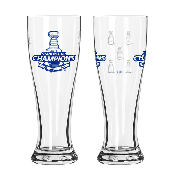 St. Louis Blues Boelter 2019 Stanley Cup Final Champions 16 oz. Satin Etch Pilsner Glass | STL Authentics
