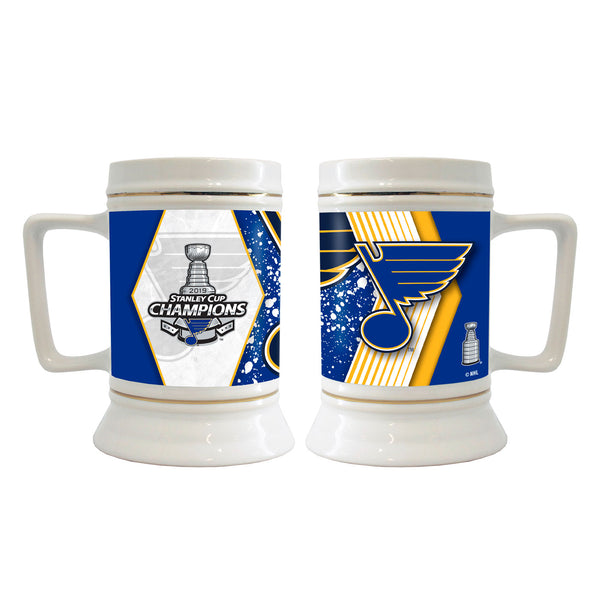 St. Louis Blues Boelter 2019 Stanley Cup Final Champions 28 oz. Stein | STL Authentics