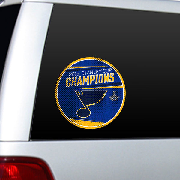 St. Louis Blues Fremont Die 2019 Stanley Cup Final Champions Large Window Film | STL Authentics