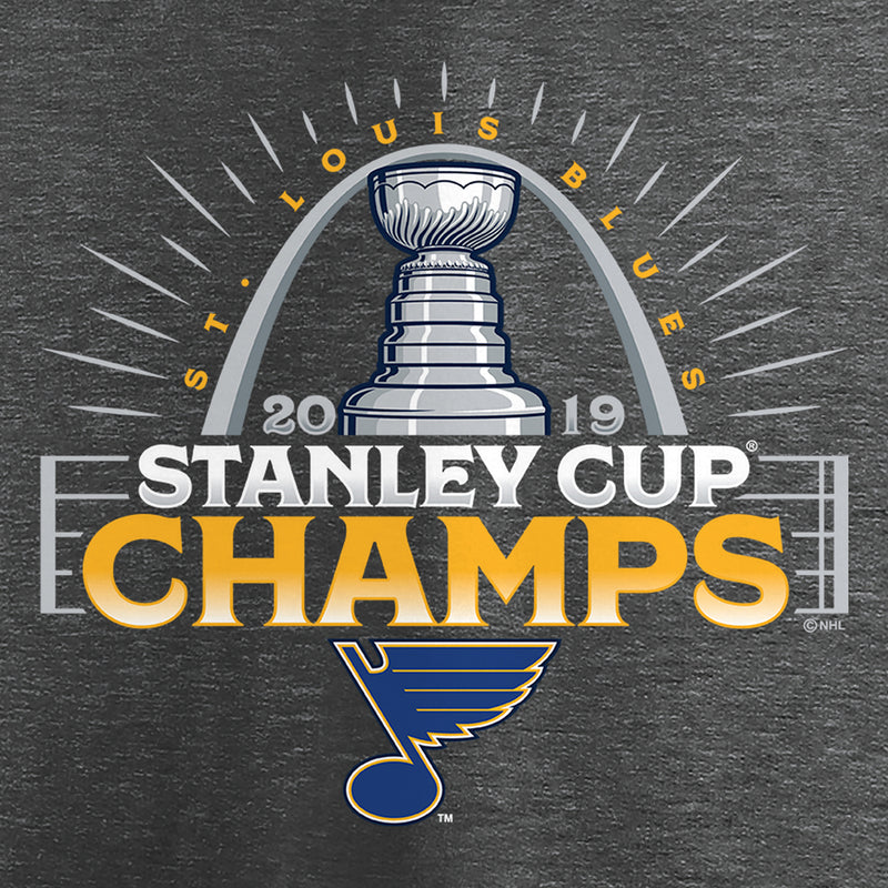 St. Louis Blues Fanatics 2019 Stanley Cup Final Champs Go Ahead Goal Official Parade Tee - Charcoal - STL Authentics