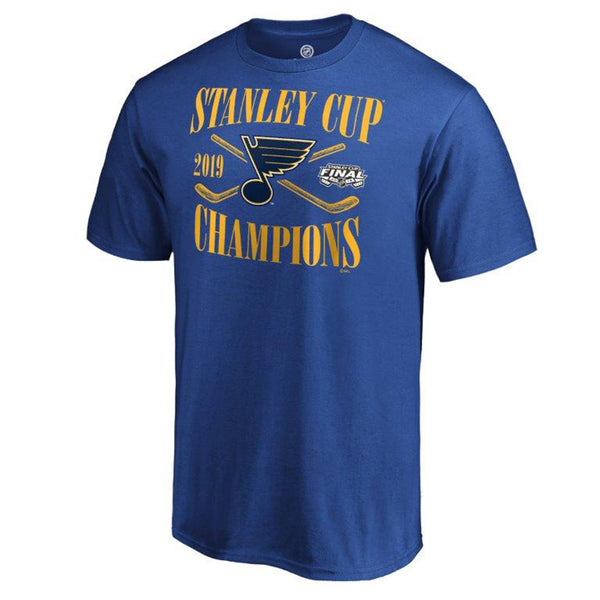 St. Louis Blues Fanatics 2019 Stanley Cup Finals Champions Hand Pass Tee - Royal | STL Authentics