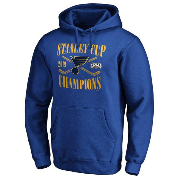 St. Louis Blues Fanatics 2019 Stanley Cup Final Champions Hand Pass Hoodie - Royal | STL Authentics