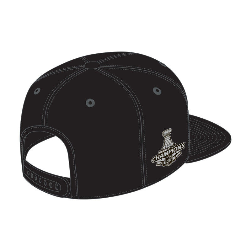 St. Louis Blues Fanatics 2019 Stanley Cup Finals Champions Blood Type Mid Crown Snapback Hat - Black