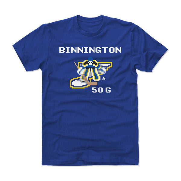 St. Louis Blues Youth NHL 94 Jordan Binnington Video Game Tee - Royal | STL Authentics