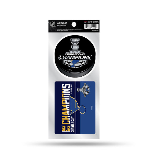 St. Louis Blues 2019 Stanley Cup Champions Double-up Decal Set | STL Authentics