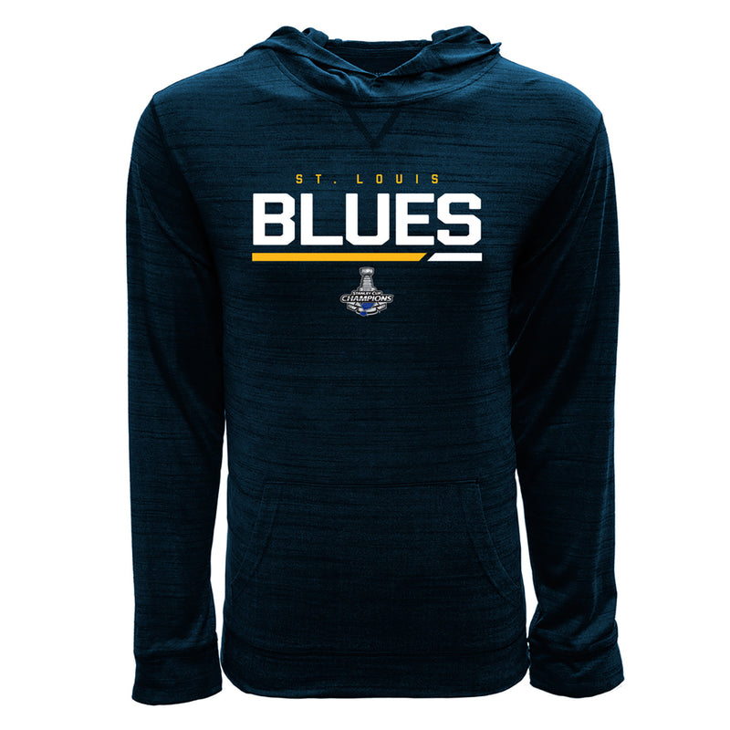 St. Louis Blues Levelwear 2019 Stanley Cup Champions Anchor Primary Performance Hoodie - Navy - STL Authentics