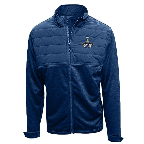 St. Louis Blues Levelwear 2019 Stanley Cup Champions Beta Full Zip Jacket - Navy | STL Authentics