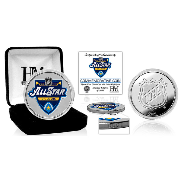 NHL All-Star 2020 Highland Mint Silver Coin | STL Authentics