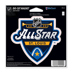 NHL All-Star 2020 WinCraft Primary Event 4x6 Die-Cut Magnet - STL Authentics