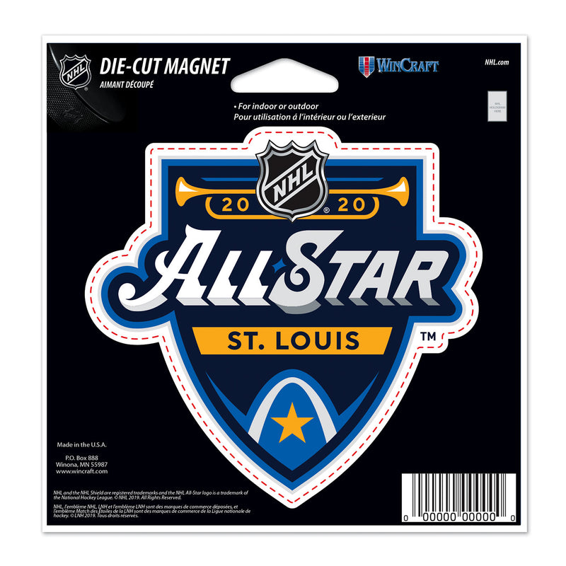 NHL All-Star 2020 WinCraft Primary Event 4x6 Die-Cut Magnet | STL Authentics