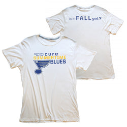 St. Louis Blues 2LU Aint No Cure Tee - White - STL Authentics