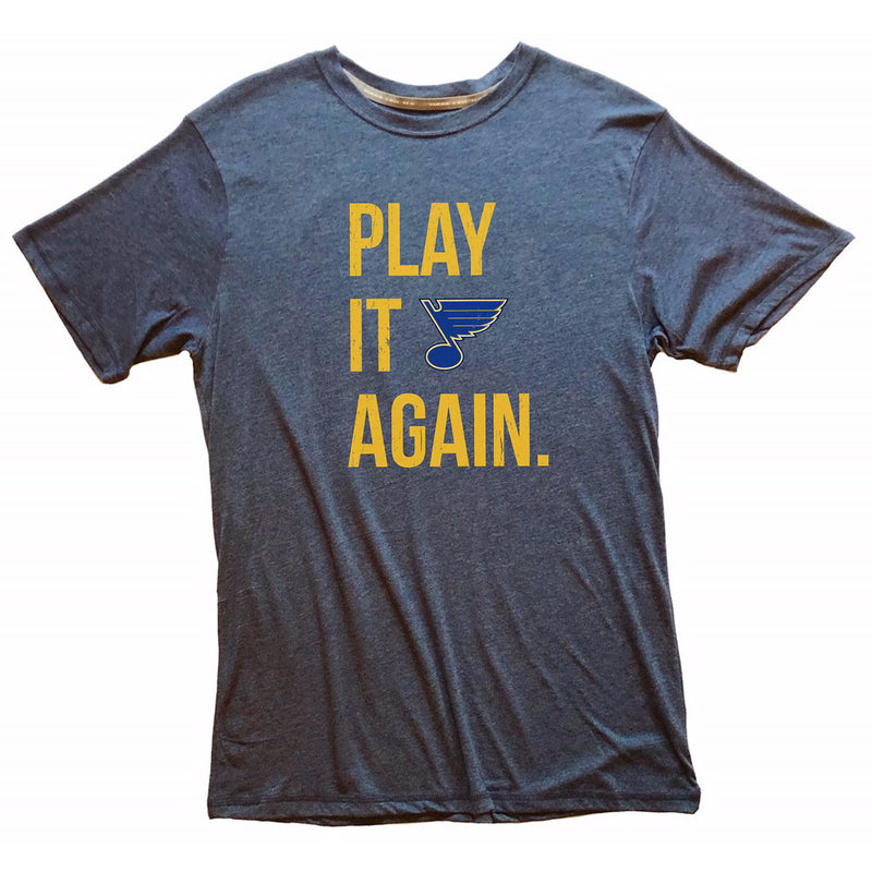 St. Louis Blues 2LU 2019 Stanley Cup Champions Play It Again Tee - Blue | STL Authentics
