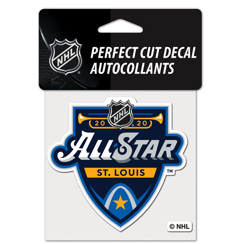 NHL All-Star 2020 WinCraft 4x4 Perfect Cut Color Decal - STL Authentics