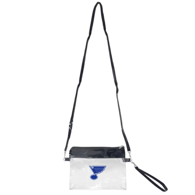 St. Louis Blues Clear Cross Body Bag Wristlet
