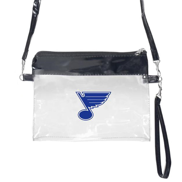 St. Louis Blues Clear Cross Body Bag Wristlet | STL Authentics