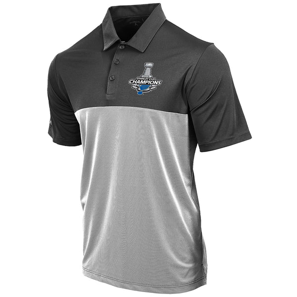 St. Louis Blues Antigua 2019 Stanley Cup Champions Venture Polo - Grey - STL Authentics