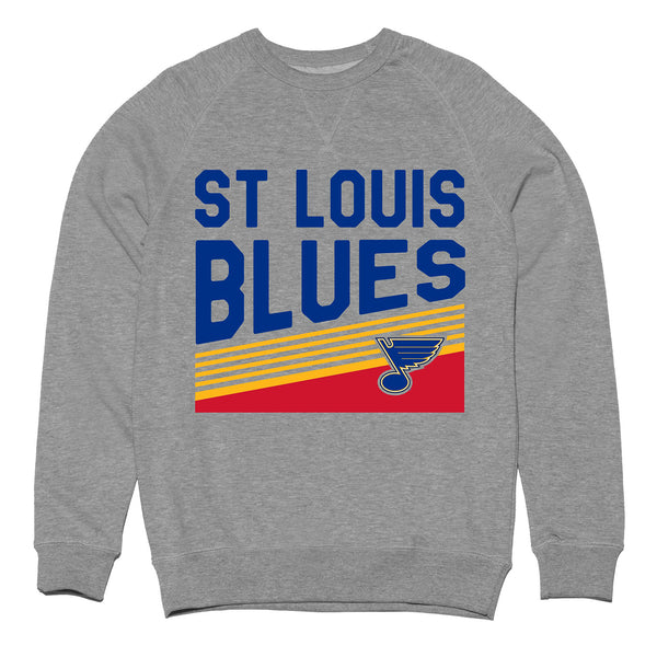 St. Louis Blues Violent Gentlemen Retro Crew Sweatshirt - Grey