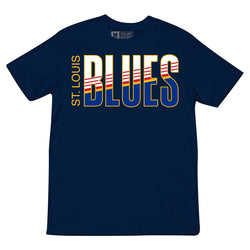 St. Louis Blues Violent Gentlemen Retro Block Short Sleeve Tee - Navy - STL Authentics