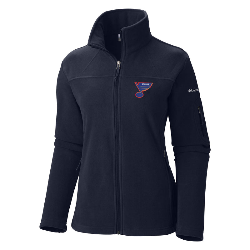 St. Louis Blues Columbia Women's Retro Give and Go Full Zip Jacket - Navy - STL Authentics