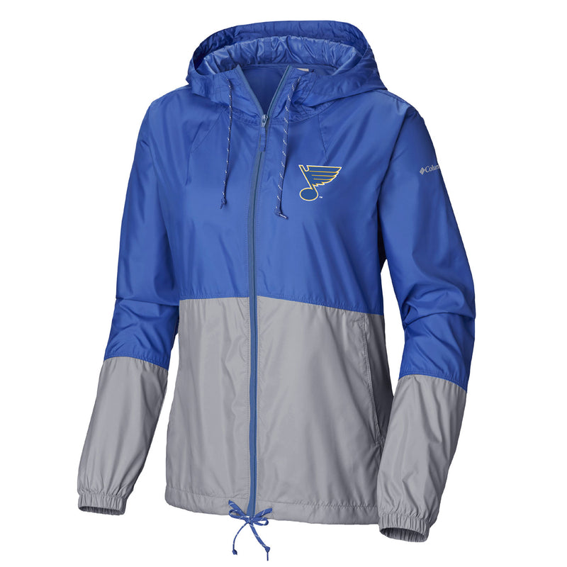 St. Louis Blues Columbia Women's Flash Forward Full Zip Jacket - Blue - STL Authentics