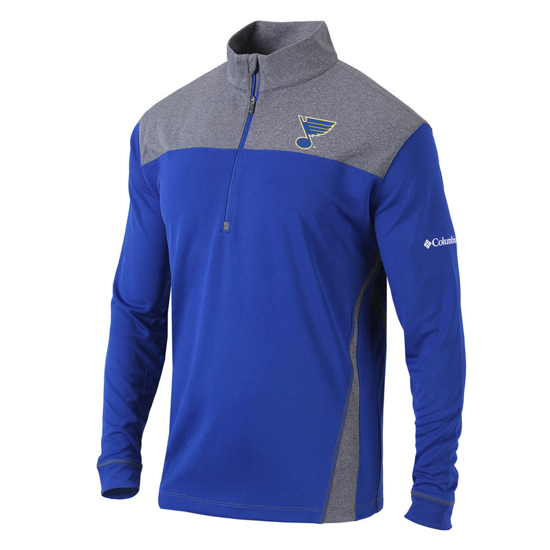 St. Louis Blues Columbia Standard 1/4 Zip Jacket - Blue - STL Authentics
