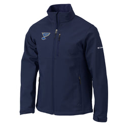 St. Louis Blues Columbia Ascender Softshell Full Zip Jacket - Navy - STL Authentics