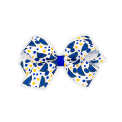 St. Louis Blues Wee Ones Logo and Dot Print Mini Bow