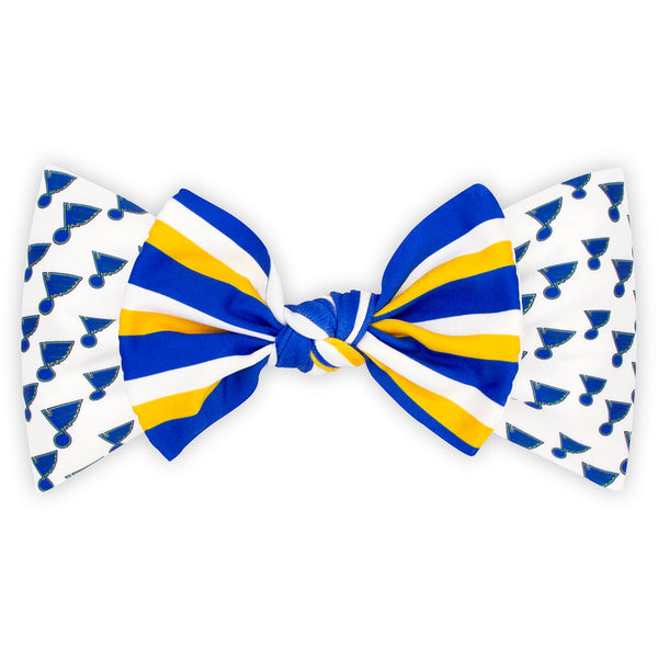 St. Louis Blues Wee Ones Nylon Logo Baby Band with Stripe Bow Tie