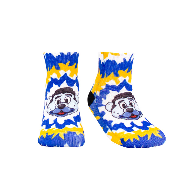 St. Louis Blues Toddler Louie Mascot Tie Dye Socks - STL Authentics