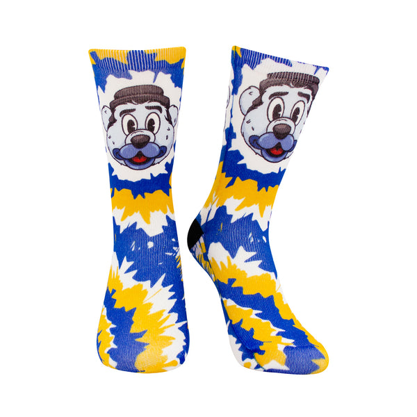St. Louis Blues Youth Louie Mascot Tie Dye Socks - STL Authentics
