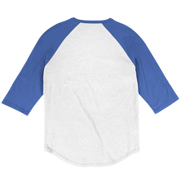 St. Louis Blues Mitchell & Ness Vintage Retro 3/4 Sleeve Raglan Tee - White/Royal - STL Authentics