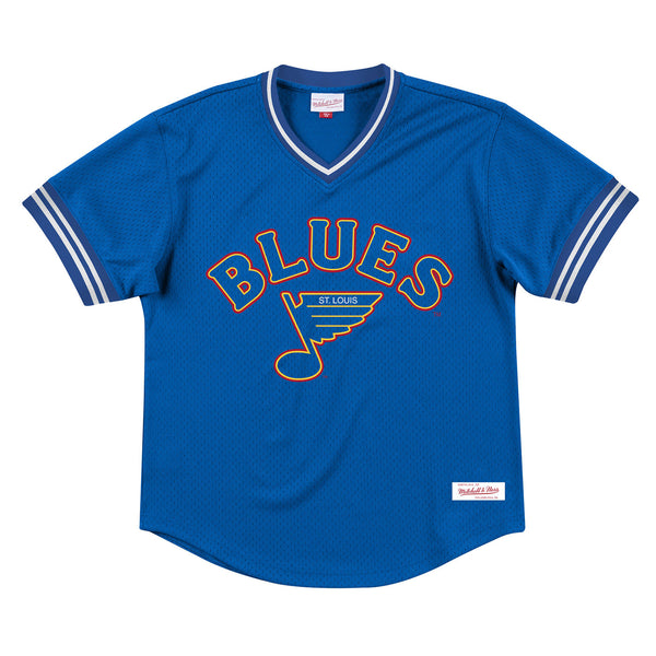 St. Louis Blues Mitchell & Ness Retro Wordmark Batting Practice Jersey - Royal
