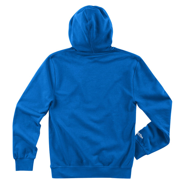 St. Louis Blues Mitchell & Ness Vintage Retro Wordmark Fleece Hoodie - Royal - STL Authentics