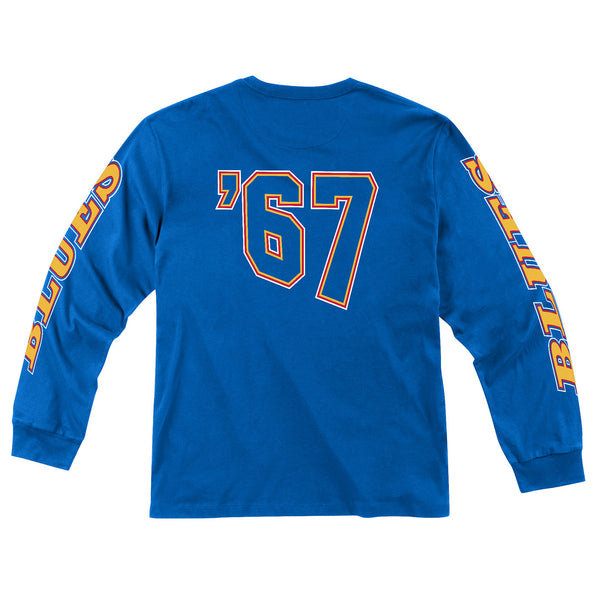 St. Louis Blues Mitchell & Ness Retro '67 Long Sleeve Tee - Royal