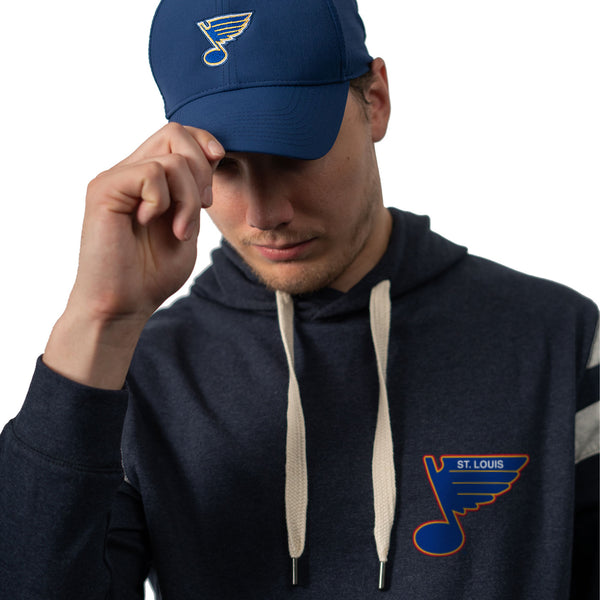 St. Louis Blues The Normal Brand Puremeso Retro Hoodie - Navy - STL Authentics