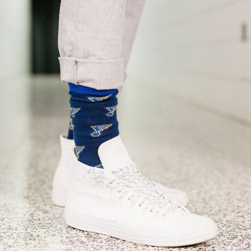 St. Louis Blues Custom Note Dress Socks