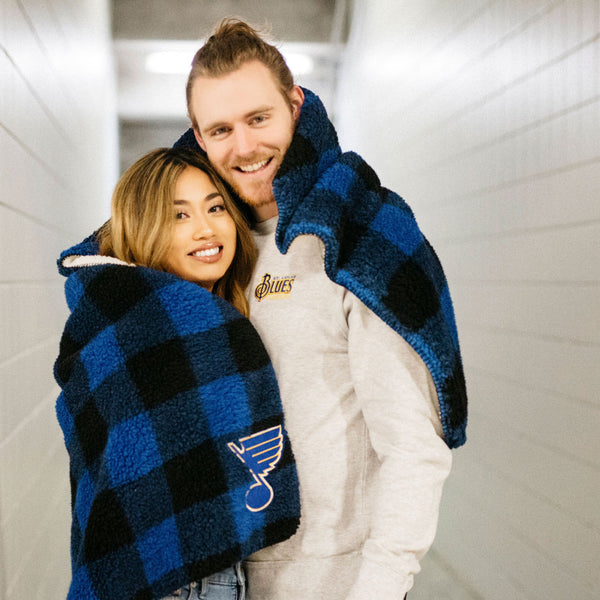 St. Louis Blues Plaid Buffalo Blanket - STL Authentics