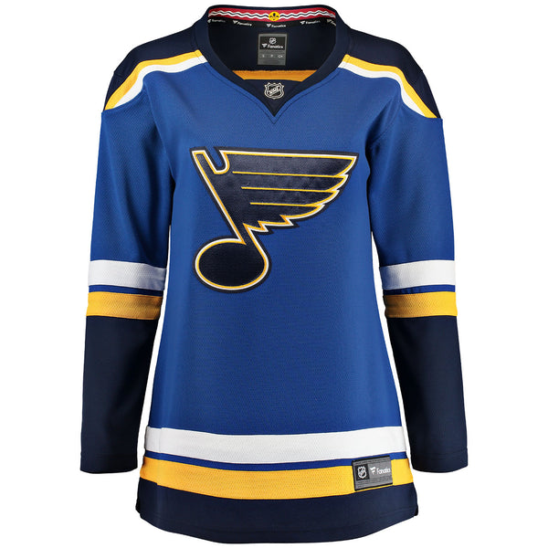 St. Louis Blues Ladies NHL Home Breakaway Jersey - Blank | STL Authentics