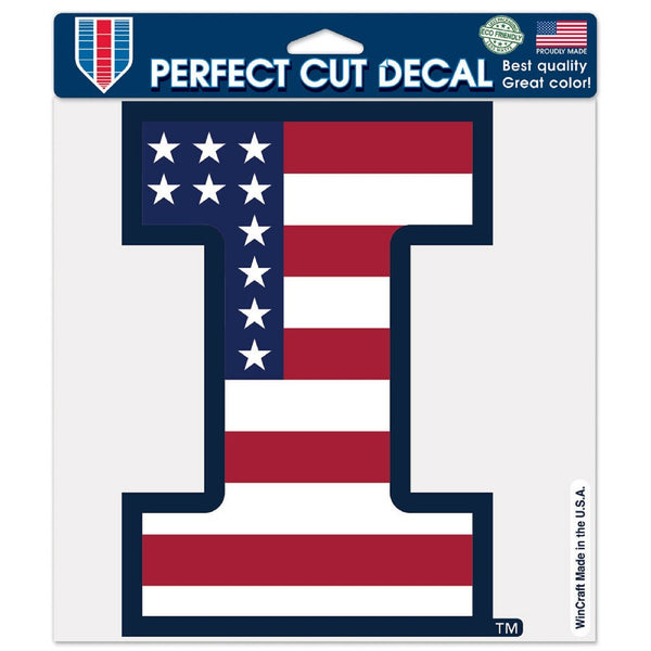 University of Illinois I Stars and Stripes Decal - STL Authentics