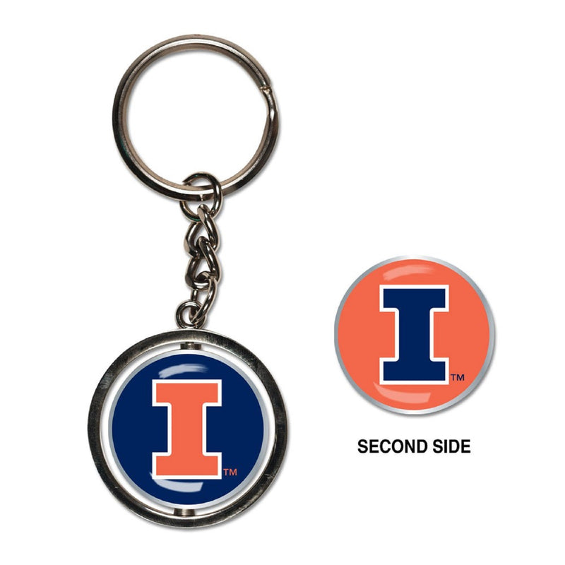 University of Illinois Spinner Keychain - STL Authentics