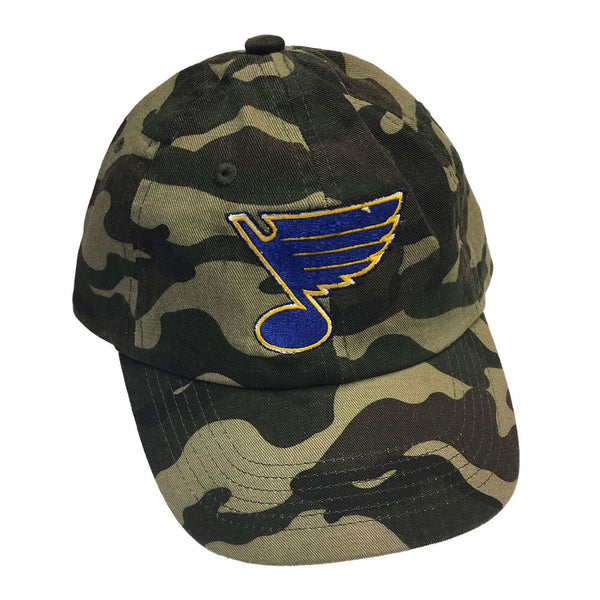 St. Louis Blues Retro Brand Adjustable Vintage Hat - Camo - STL Authentics