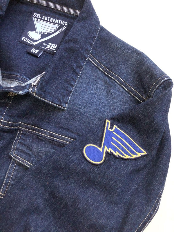 St. Louis Blues Women's Bluenote Denim Jacket - STL Authentics
